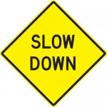 Slow Down Your Eating Sign